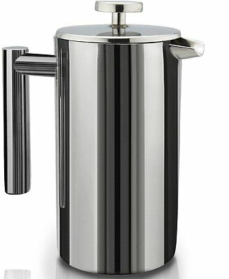 SterlingPro Double Wall Stainless Steel French Coffee Press, 1 Liter ,SSFCP-1-1L