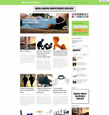 EXERCISE STORE - Responsive Design Mobile Friendly Affiliate Website Business