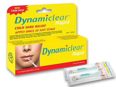 Dynamiclear Rapid twin pack one breakout one application cold sore lip care