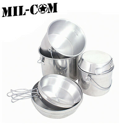Milcom Billy Can 6 Piece Nesting Cooking Set Camping Travel Stove Pots & Pans