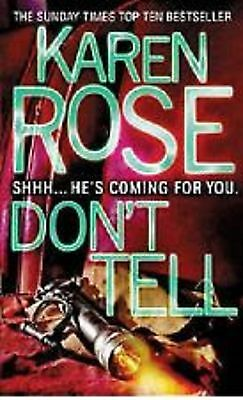 Don't Tell By Karen Rose - NEW Paperback book