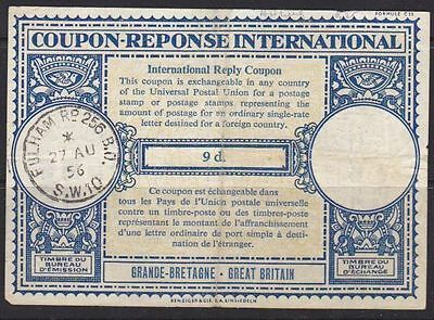 Great Britain 1956 IRC International reply coupon (not very good quality)