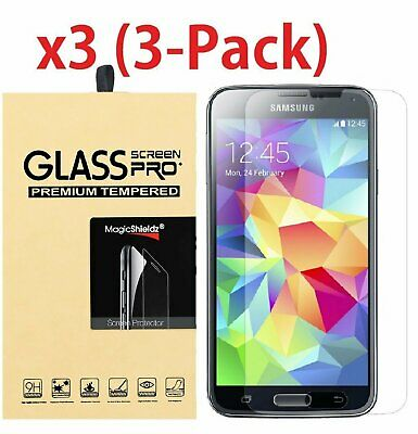 3-Pack Premium Tempered Glass Screen Protector For Samsung Galaxy S5