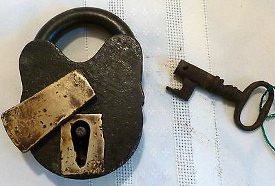 Antique 1800's Unmarked DAVENPORT MALLORY Working Padlock With Key • CAD $62.90