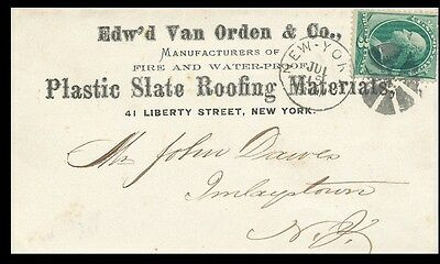 1870s Plastic Slate Roofing Materials Advertising Cover New York *AD1-6