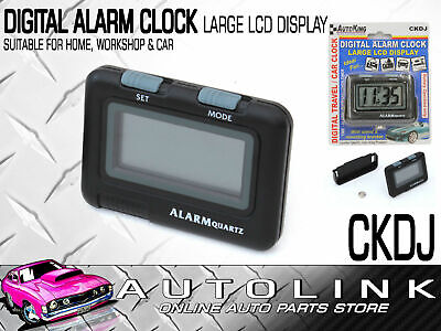 Digital Alarm Clock With Stand & Mounting Bracket, Large Lcd Display (Batt Inc)