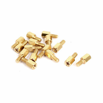 M3 Male/Female Thread Brass Hexagonal PCB Spacer Standoff Support 6mm+6mm 15pcs