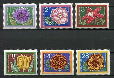 33557) BULGARIA 1974 MNH** Flowers 6v Scott #2184/89