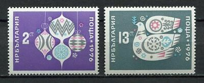 33575) BULGARIA 1975 MNH** New Year 1976 2v Scott #2291/92