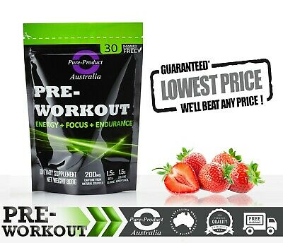 300g PRE WORKOUT 30 SERVES  LEMONADE Special formula  PREWORKOUT