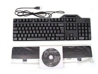 Genuine DELL USB KB813 Keyboard FRENCH Layout with Smart Card Reader HX4D8