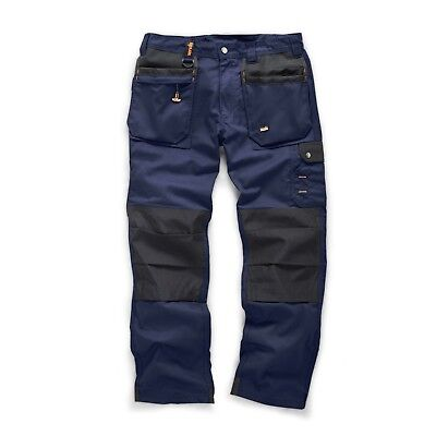 Scruffs WORKER PLUS Trousers NAVY BLUE Combat Cargo work Pants