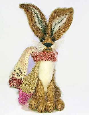 Brown Rabbit/Hare Felting Kit For Beginners - Just add enthusiasm!
