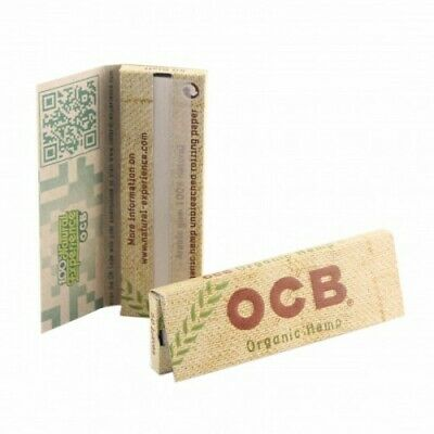 OCB Hemp Brown Rolling Papers Standard size 50 Sheets/Booklet (1/10/20/50)pcs