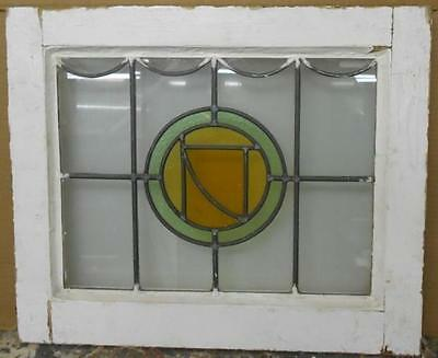 "OLD ENGLISH LEADED STAINED GLASS WINDOW Abstract Geometric Design 20.25"" x 17"""