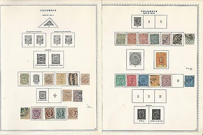 Columbia Collection 1859 to 1972 on Minkus Specialty Pages, SCV $485, 90 Pages