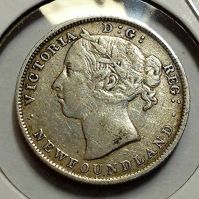 Newfoundland 1900 Sterling Silver 20 Cents From Canada Collection