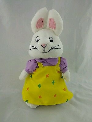 "TY  Ruby 7"" Plush Bunny Rabbit From Max and Ruby Cartoon"