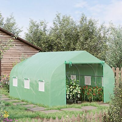 Outsunny 11.5'x10'x6.6' Walk-In Greenhouse Garden Plant Warm Tunnel Green House