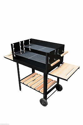 Outsunny Free Standing Barbecue Grill Trolley Charcoal BBQ Patio Outdoor Garden