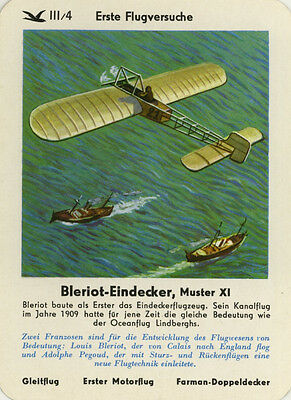 Single Vintage German Game Card: Bleriot-Eindecker