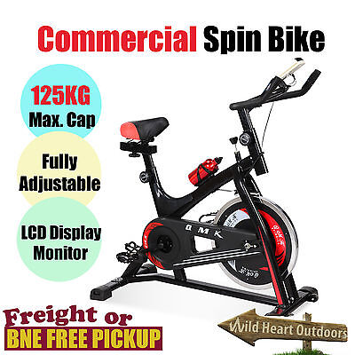 Commercial Exercise Bike Spin Flywheel Fitness Pulse Monitor Gym