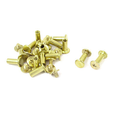 15pcs 5mmx12mm Brass Plated Binding Chicago Screw Post for Leather Scrapbook