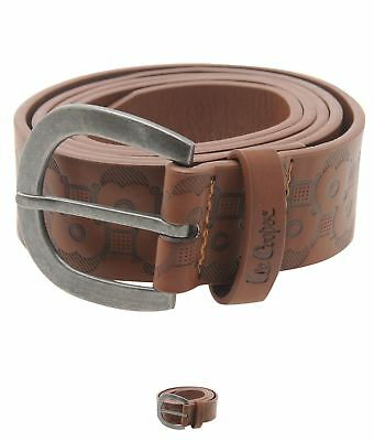 OFFERTA Lee Cooper Floral Belt Ladies Tan