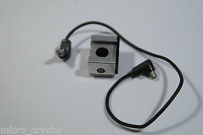 Vintage flash with sync lead plug to male cable for film camera SLR