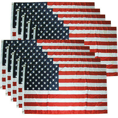 10 Pack Lot 3x5 ft American Flag USA US Stars Grommets Wholesale - Polyester b
