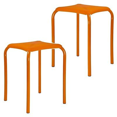 2 or 4 Kids Metal & Plastic Comfortable Sitting Stool Chair Seat Utility Bedroom