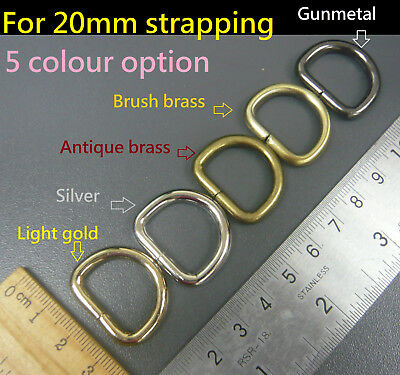 Heavy Duty Non Welded D Rings - Buckles for 20mm Webbing Hand Bags Leather craft