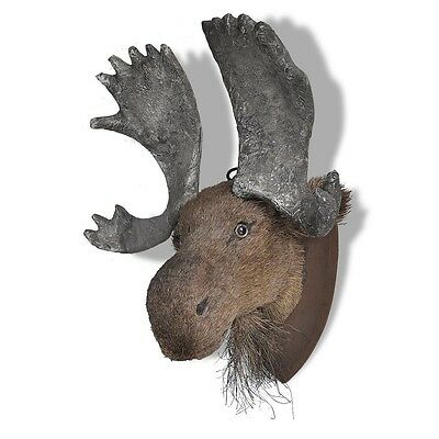 Deer head wall mounted fake taxidermy natural elegant realistic animal new picclick uk - Fake moose head mount ...