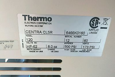 Thermo Electron Centra Cl5R Refrigerated Centrifuge 120V Ac Yr 2005