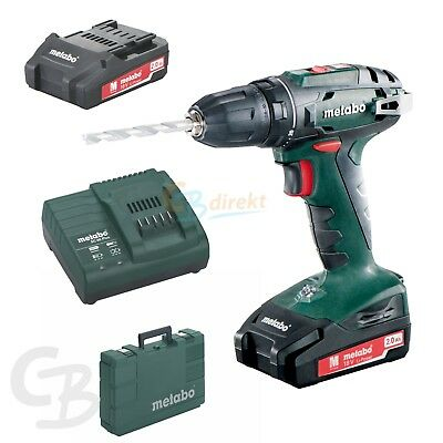 METABO 18 V TRAPANO A BATTERIA BS 18 + 2x 2,0AH CARICABATTERIA SC 60 PLUS