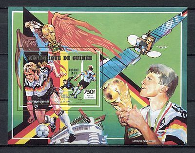 s6345) GUINEE 1991 MNH** WC Football'90- CM Calcio S/S IMPERF.