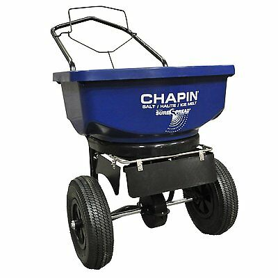Chapin 80088 80-Pound Salt and Ice Melt Spreader 360-degree baffle system NEW