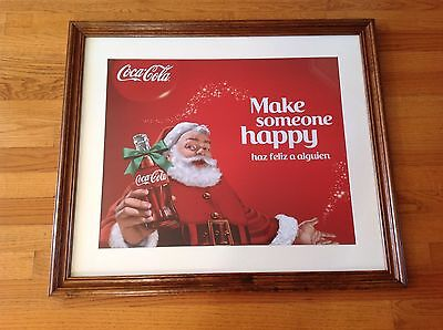 Coca Cola Santa picture, Poster, High Quality Image On Plastic Sheet