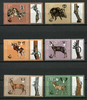 33652) BULGARIA 1981 MNH** various hunting rifles 6v
