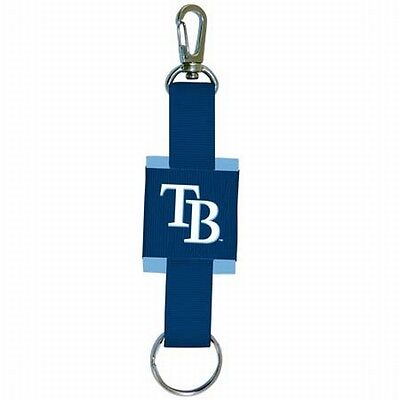Tampa Bay Rays MLB Hand Made Grosgrain Woven Blue Keychain