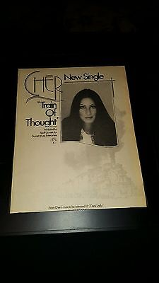 Cher Train Of Thought Rare Original Promo Poster Ad Framed!