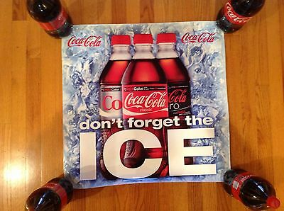 "Large Coca Cola High Quality Vinyl W/ Strong 3M Adhesive, 25 1/2"" X 25 1/2"""