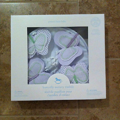 NEW Pottery Barn Kids Baby LAVENDER BUTTERFLY Crib Mobile FREE SHIPPING