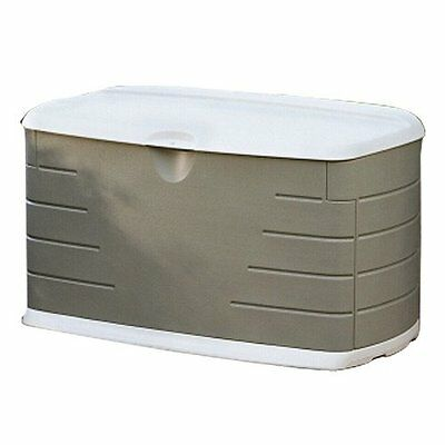 Rubbermaid 5F21 Deck Box with Seat 10 Cubic Feet (FG5F2100OLVSS) Easy assembly