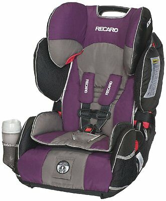 RECARO Performance SPORT Combination Harness Booster BABY CAR SEAT, Plum