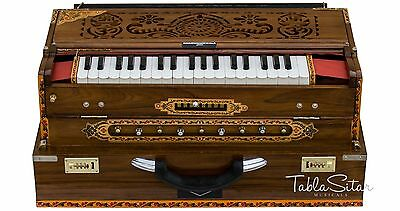 HARMONIUM|6200tn CALCUTTA|MAHARAJA|9 SCALE CHANGER|INDIAN|TEAK|FOLDING|BAG|AGI