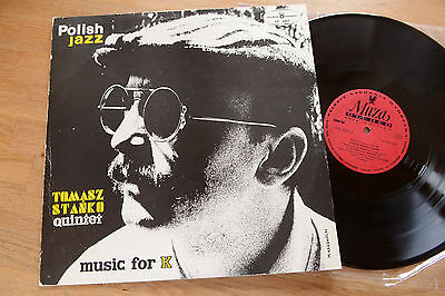 THOMASZ STANKO Quintet music for K POLISH JAZZ LP MUZA SXL 0607