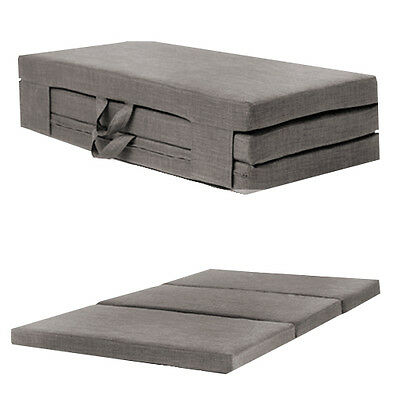 Slate Grey Double 4ft Folding Sofabed Futon Fold Out Foam Guest Mattress Bed