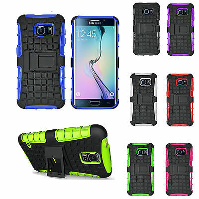 Heavy Duty Shockproof Stand Military Builders Hard Case Cover Samsung S7 S7 Edge
