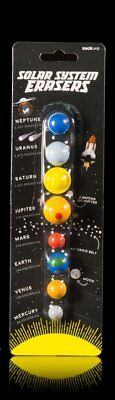 Suck UK - Solar System Erasers - Rubber Planets Galaxy